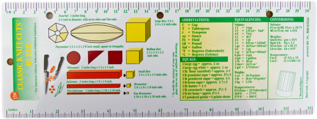 Knife Cuts Ruler 25-99 Units
